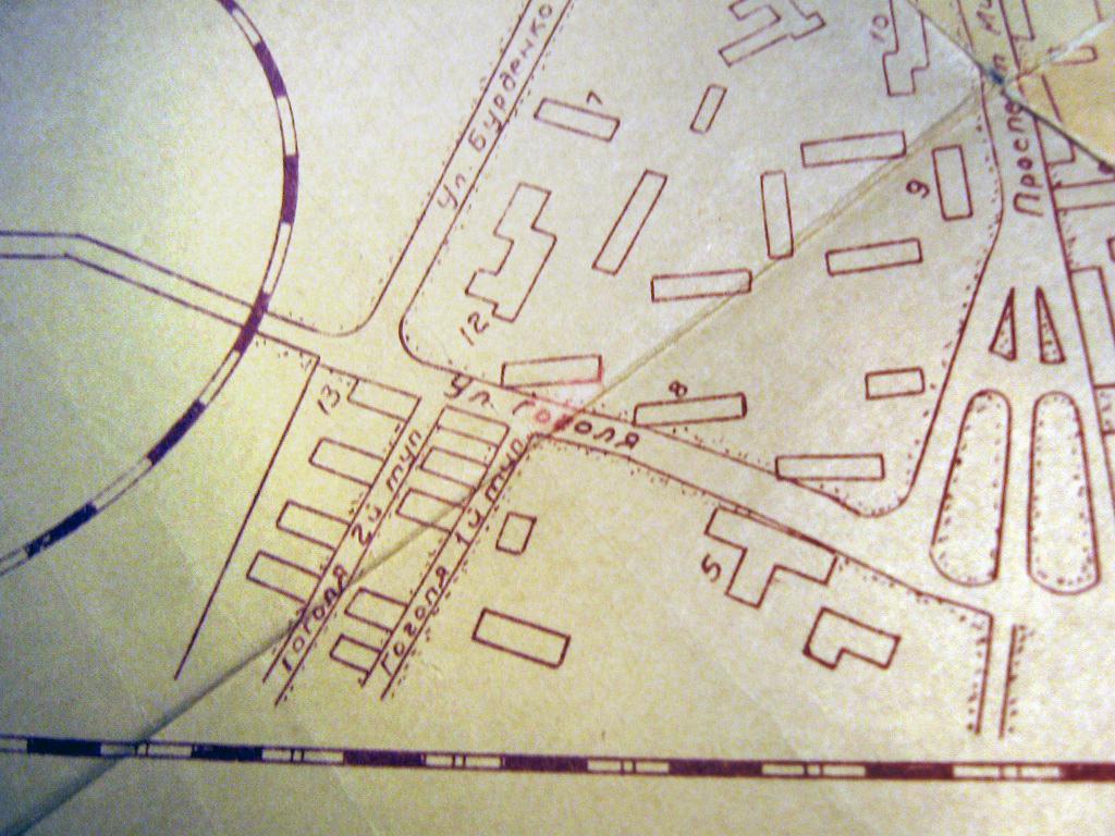 Фото 2. Схема Центрального посёлка по данным на начало 1960 – х годов.