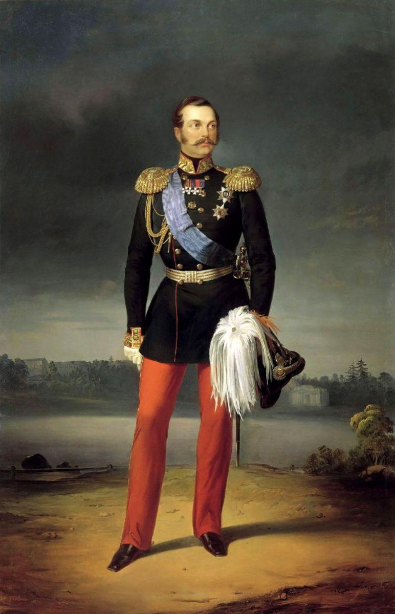 Рис. 2 Егор Иванович Ботман. Портрет Александра II. 1856. Холст, масло 265 x 172, ГРМ