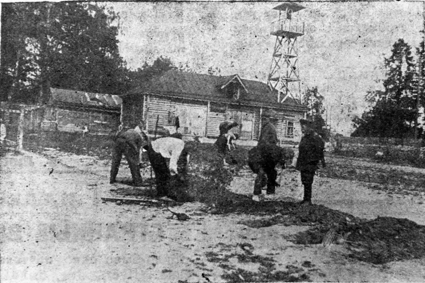Рис. 10 Разбивка клумб у здания Химкинского пос. совета. 1934г. №98 от 14 июля