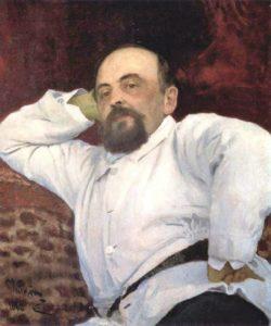 Савва Иванович Мамонтов. Портрет работы И. Е. Репина. 1880 год.