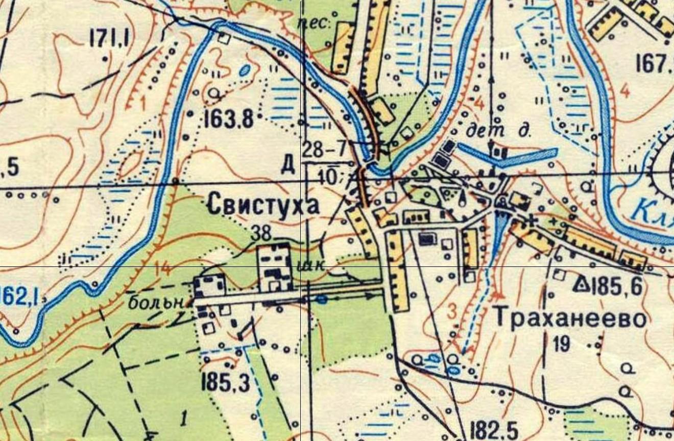 Рис.8 Фрагмент карты Москвы 1968 года.