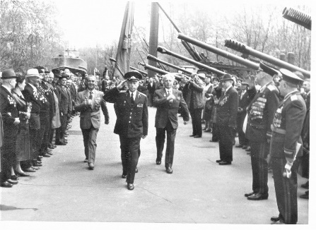 Парад ветеранов 142-й артиллеристской бригады 33 армии