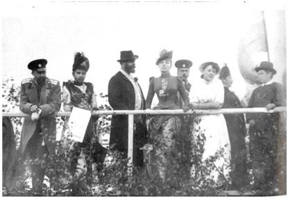 Рис. 14. Мамонтовы с друзьями на скачках в Киреево. 1870-1880-е гг.