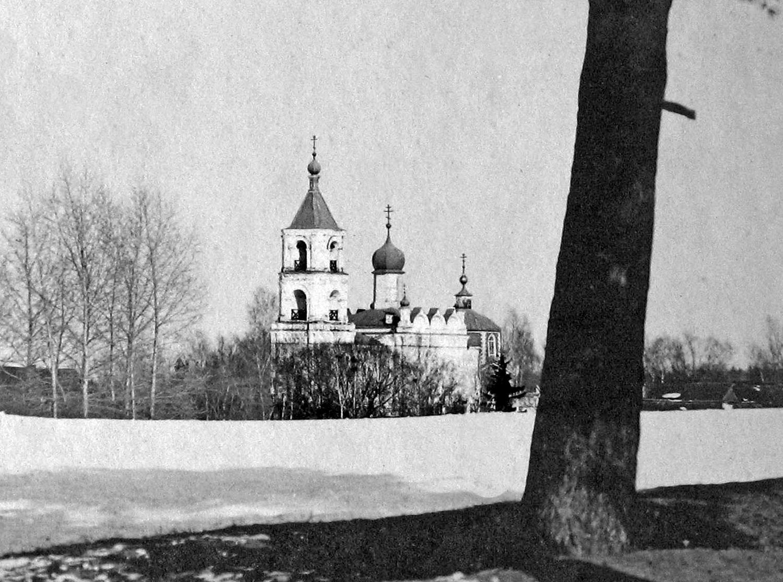 Успенская церковь в Трахонеево, 1906 г. Фото Фёдора Фёдоровича Барта из архива Генриха Фёдоровича Барта.