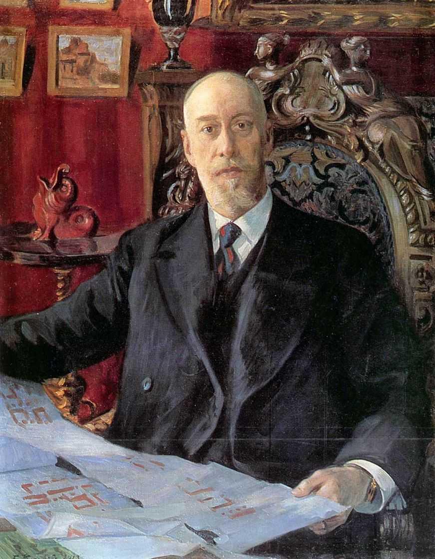 Б.М. Кустодиев. Портрет Николая Карловича фон Мекка.