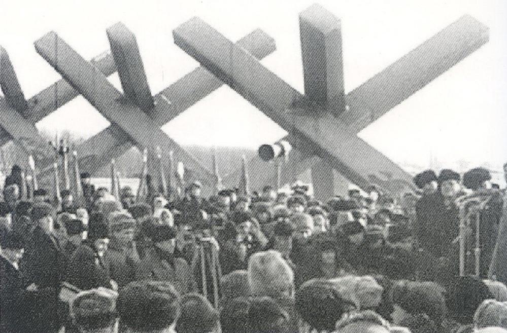 Рис. 7 Открытие монумента «Ежи»,6 ноября 1966 год. Фото из Интернета.