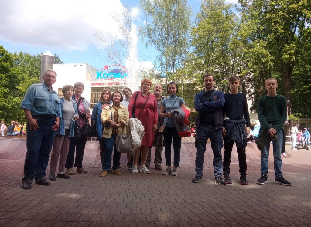 Наша группа в парке Л.Н. Толстого