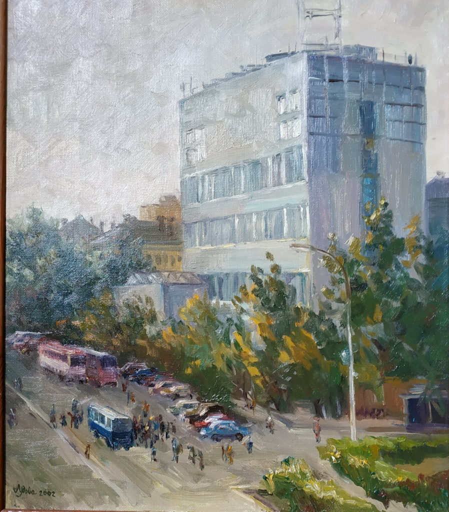 Рис.3 Анастасия Удова «Вид на КХР», 60х50, х.м. 2002 год
